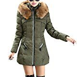 Zhuhaitf Big Collar Zip Down Coats Padded Jacket Hood Winter Comfort Warm For Ladies