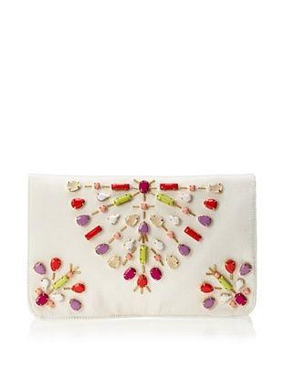 35% OFF Shiraleah Women's Kit Clutch, Ivory