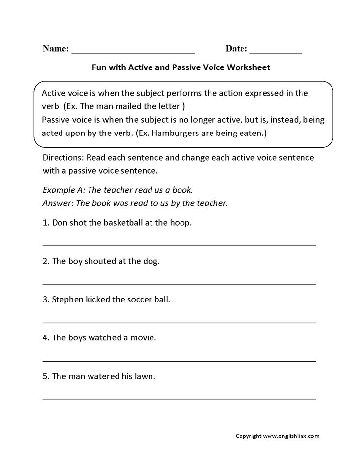 how to change active to passive voice
