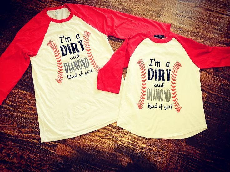 I'm A Dirt And Diamond Kind of Girl Baseball Softball