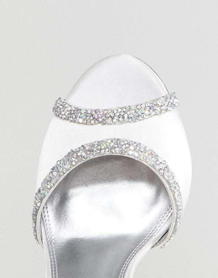 a2bce9f04781 Asos DESIGN HITCHED Wide Fit Bridal Embellished Heeled Sandals  HITCHED Wide  Asos