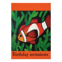 Finding Nemo birthday invitations for kids