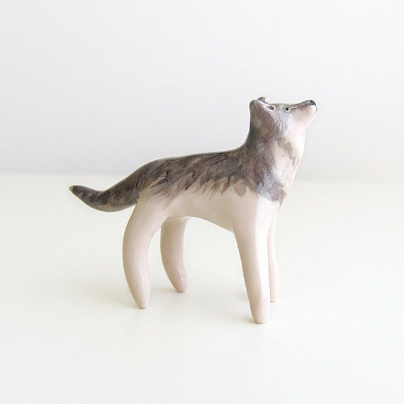 clay wolf: Clay A T, Cani Lupus, Grey Wolf, Pendants Necklaces, Grey Wolves, Clay Animal, Handymaiden, Clay Wolf, Clay Terrarium