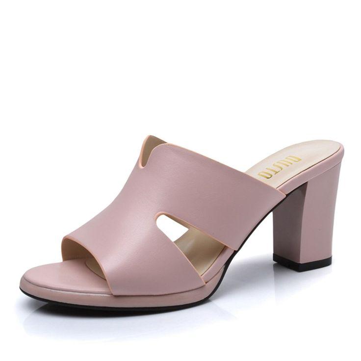 Summer new Korean version with high heels/Fashion flip flops/Womens sandals ** For more information, visit image link.