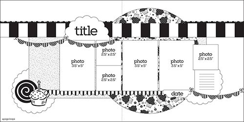 2264 best 2 Page Scrapbook Sketches images on Pinterest