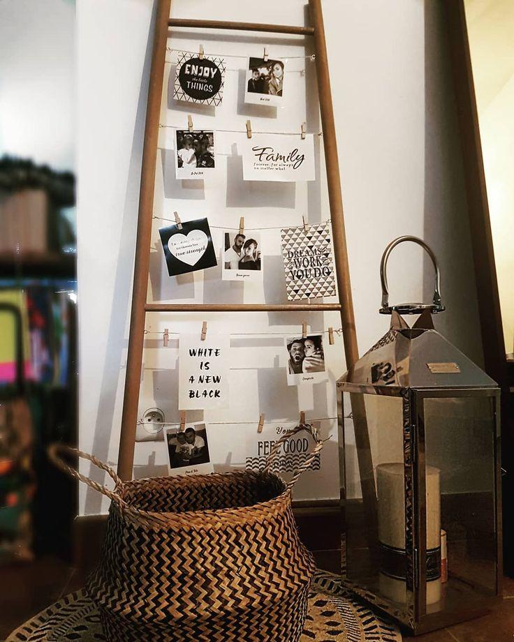 Petit achat du jour de @coralie_mumlife : cette échelle porte-photos en bambou BABOU à 18€ - 120 x 50 x 35 cm -