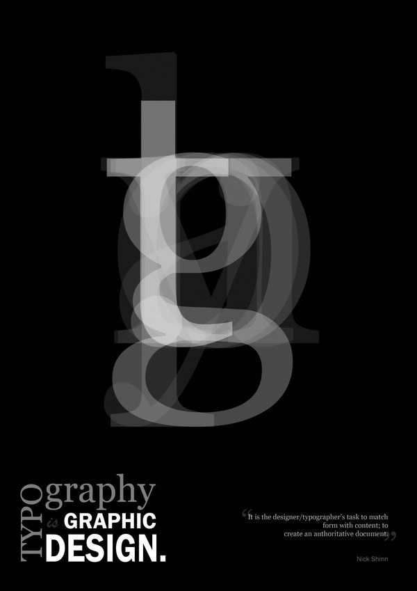 This is a typography Graphic Design Poster
