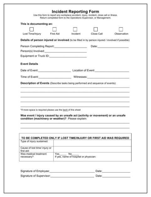 Tm Sheet Sample Incident Report For Security Officer Tm Sheet D1d995be Resumesample Resumefor Incident Report Form Incident Report Report Template