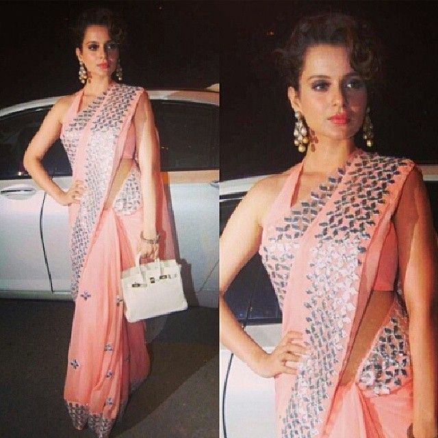 #kanganaranaut #bollywood #India #indian #amazing #pretty #fashion #fashioninsta #desi #saree #sari  #love