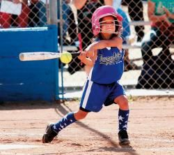 Makayla in The Acorn newspaper for softball at age 6. No big deal!