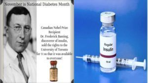 14th November is the National Diabetes Month and Birthday of Insulin