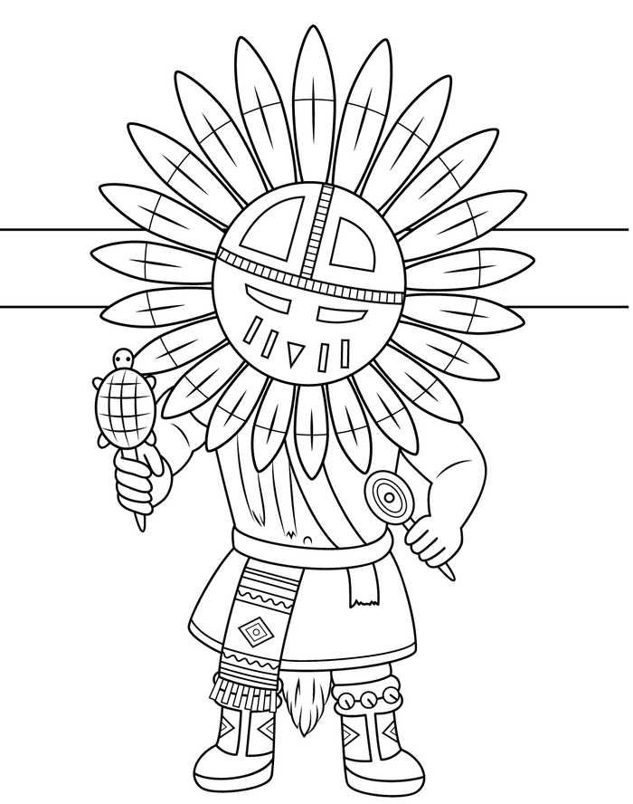 Native American Coloring Pages Collection Coloring Books Cute