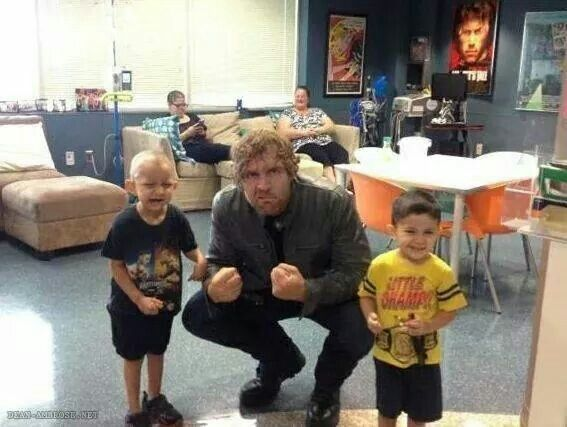 Dean Ambrose with some little fans. He will make a great father someday