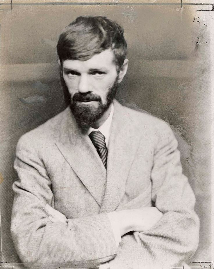 D.H. Lawrence. Looks downright furtive to me. Like he just read a dirty book?