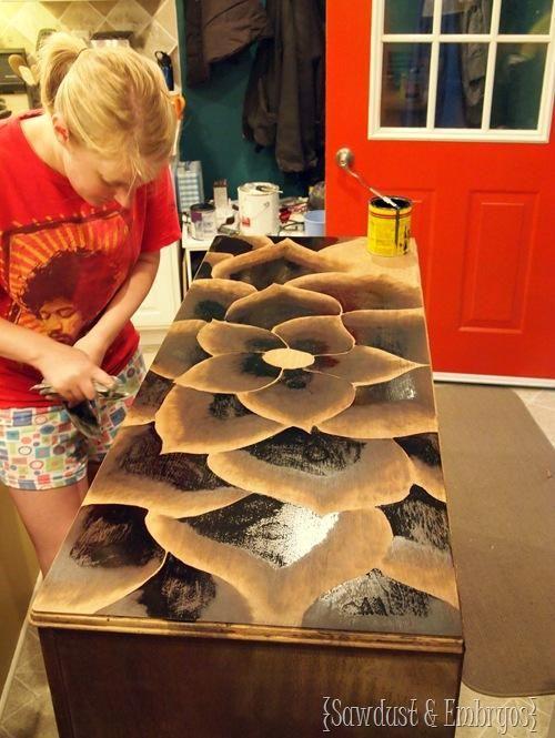 DIY Furniture : DIY Using Stain to Make Artwork!
