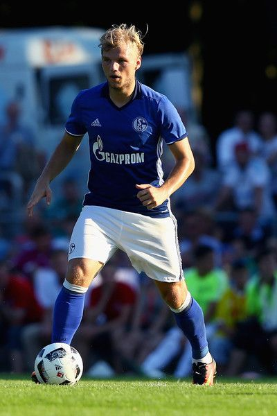 Johannes Geis of Schalke runs with the ball during the friendly match between DSC Wanne-Eickel and FC Schalke 04 at Mondpalast Arena on July 19, 2016 in Herne, Germany.