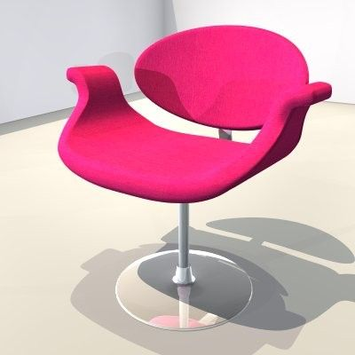 Chair Pink 3Ds Free - 3D Model