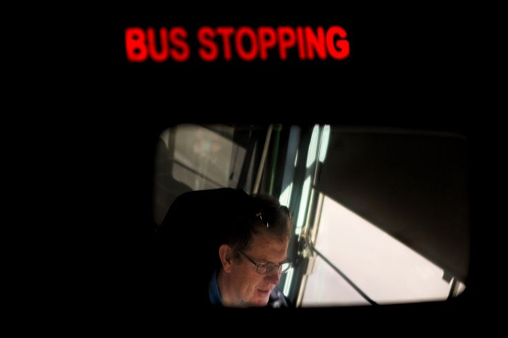 FINAL 3: I really like how the rear view mirror adds a dynamic view to the series, I also like the additional 'Bus Stopping' sign as it fits in the series of my dad being a bus driver