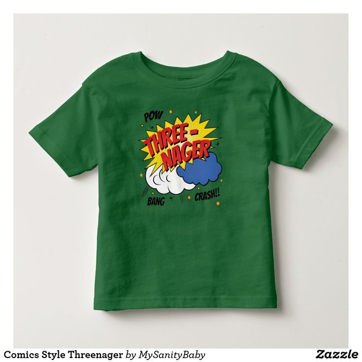 Comics Style Threenager T-Shirt - they are adorable and know exactly how much they can push your buttons before you lose your minds (the point they morph into the cutes creatures in the universe). They are the threenager, I have one at home, what about you? He / She will love this awesome comic style tee, perfect for a super threenager!