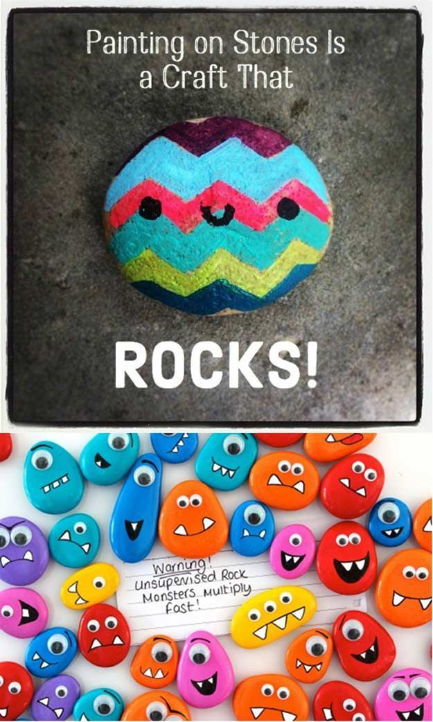 Painted Stones | 14 First Day of School Crafts & Activities