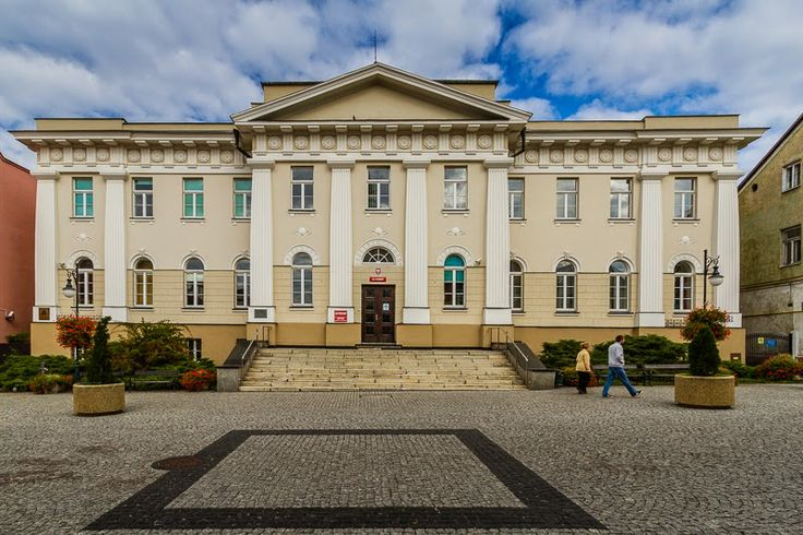 Hundred years old building of the Local Court (originally National Bank of Poland) in Radom, Poland
