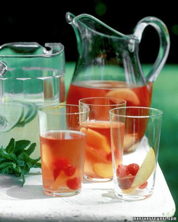 There's nothing better on a warm night than a glass of this light and fruity cocktail.