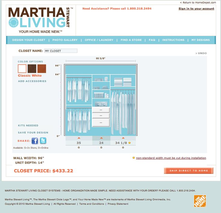 Simply Organized: Closet Organization Made Simple By Martha Stewart Living  At The Home Depot Closet