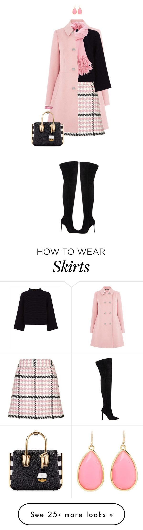 """Skirt In Winter"" by ittie-kittie on Polyvore featuring Oasis, Topshop, Gianvito Rossi, Jaeger, MCM, Kate Spade, Sif Jakobs Jewellery, women's clothing, women and female"