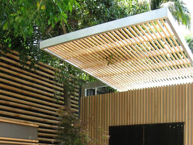 Bamboo Poles Ceiling- could also use as a screen in the garden.