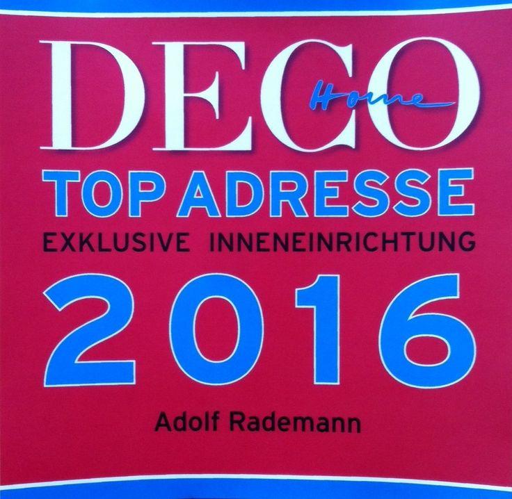 Wir sind dabei! DECO Home #Topadresse 2016 #Raumausstatter #Rademann #Kiel #Innenstadt #decohome #deco #home #Dekoration #schönedinge #wohnen #einrichten #Teppich #verlegen #Stoff #nähen #Plissee #montieren #Stuhl #polstern #Teppichboden #Designbelag #Dekorationsstoff #Polsterstoff #Möbelbezugsstoff #Sonnenschutz #Rollo #Jalousie  #rot #blau #top #exklusiv #Inneneinrichtung