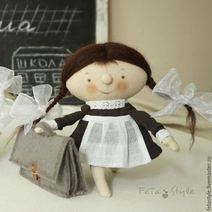 Купить Девочка и Портфель Школьница Кукла текстильная - кукла малышка, маленькая…