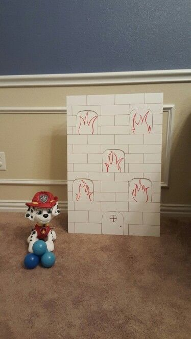 Marshal ball toss Paw Patrol party game