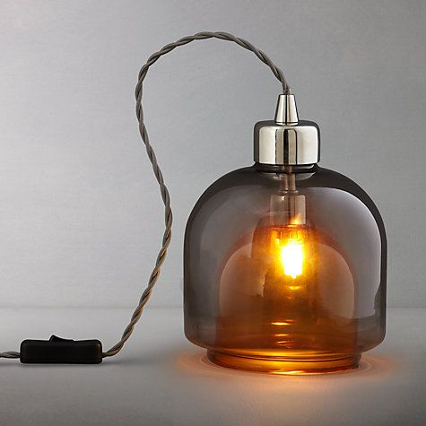 Buy John Lewis Ambience Layer Glass Lamp, Amber Online at johnlewis.com
