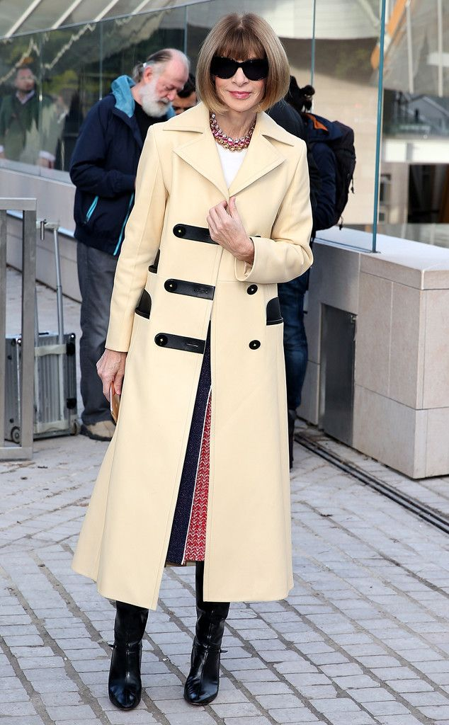 Anna Wintour from Stars at Paris Fashion Week Spring 2016  Is Anna ever under dressed? No way! For the Louis Vuitton show, she's just as sharp as ever.