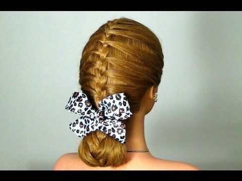 ▶ Hairstyle for every day with braided! Braided hairstyle for every day! - YouTube