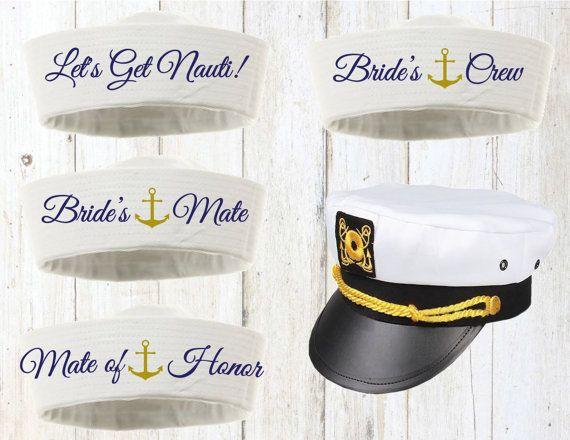 Sailor Hat Bachelorette Hat Captain Hat Yacht Nautical by Eventees