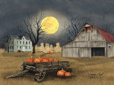 Harvest Moon by artist Billy Jacobs 16x20""