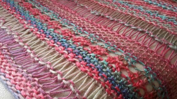 Stitch Sample Scarf by LisasWoollyTreasures on Etsy