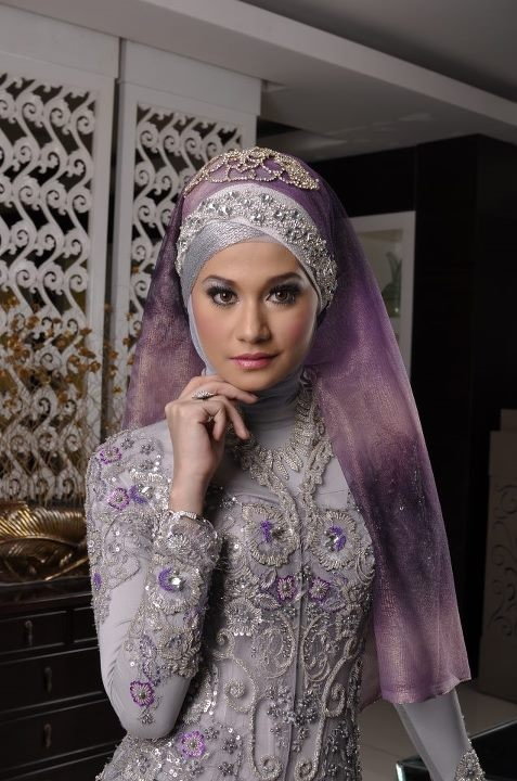 Hijab idea for a bridal look