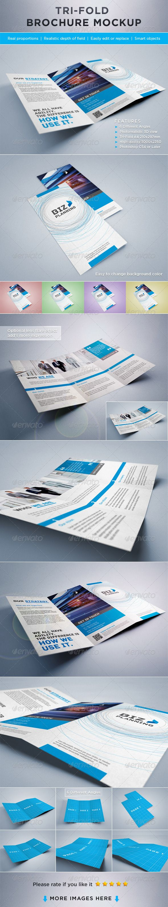 best images about banner font photorealistic tri fold brochure mock ups