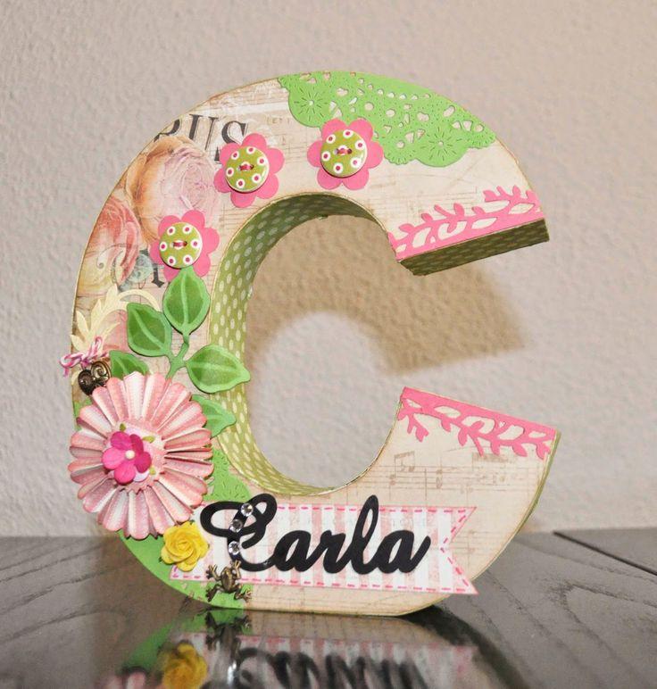 El caj n del scrap letras craft 3 d pinterest scrap - Letras decoradas scrap ...