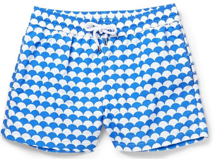 Evelove Men Print Summer Loose Swimming Boxer Shorts Swimwear Trunks
