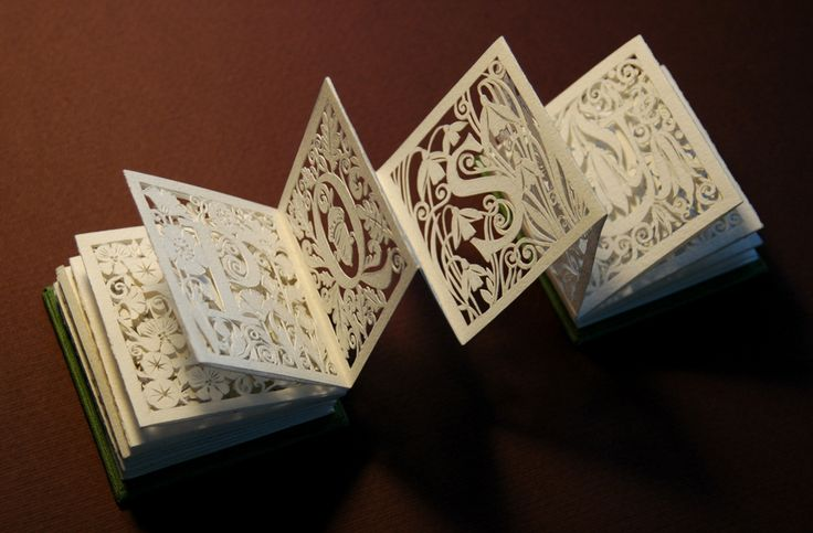 concertina book cut. I hope this was not cut by hand. Beautiful.