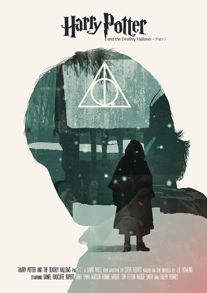 Harry Potter and the Deathly Hallows part 1 - Movie Poster Art Print
