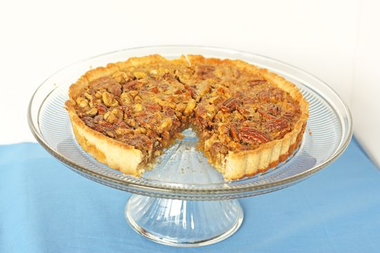 Honey Nut Tart. Pecans and walnuts surrounded by an orange honey custard.