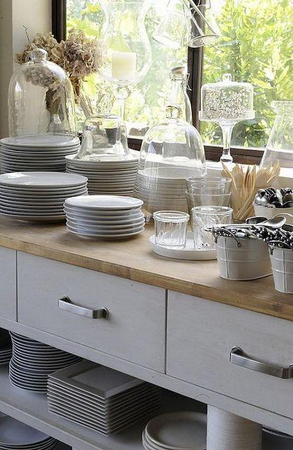 Living Agency {white scandinavian modern kitchen} by recent settlers, via Flickr
