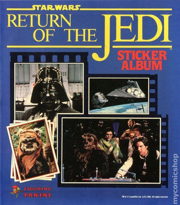 "Panini ""Return Of The Jedi"" sticker album"