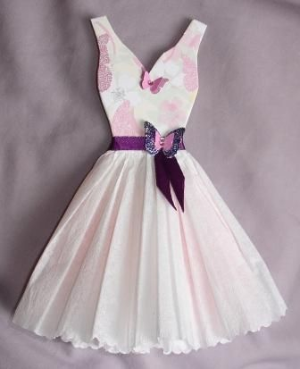 paper dresses art | bottom made with crepe paper tissue paper and patterned paper