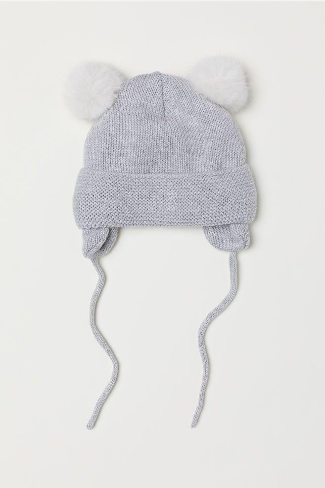 b1c140620c0 Fleece-lined Hat - Light gray melange - Kids