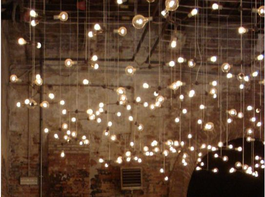 Lights Hanging On Wall : hanging bulbs for wedding- these would look pretty hanging from the trees Wedding Ideas ...